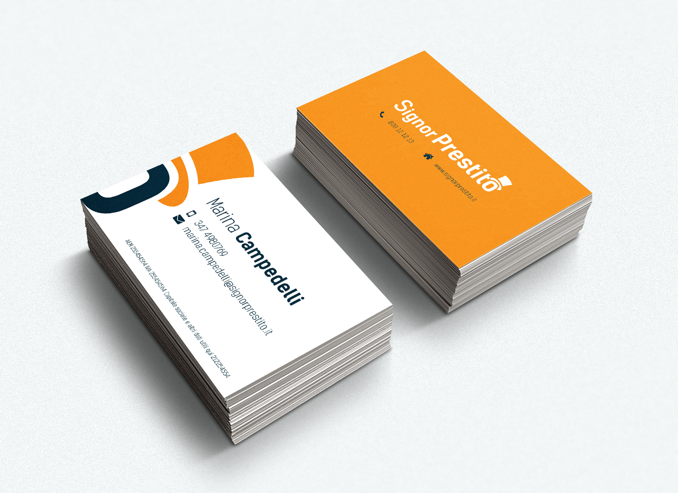 business card signor design prestito