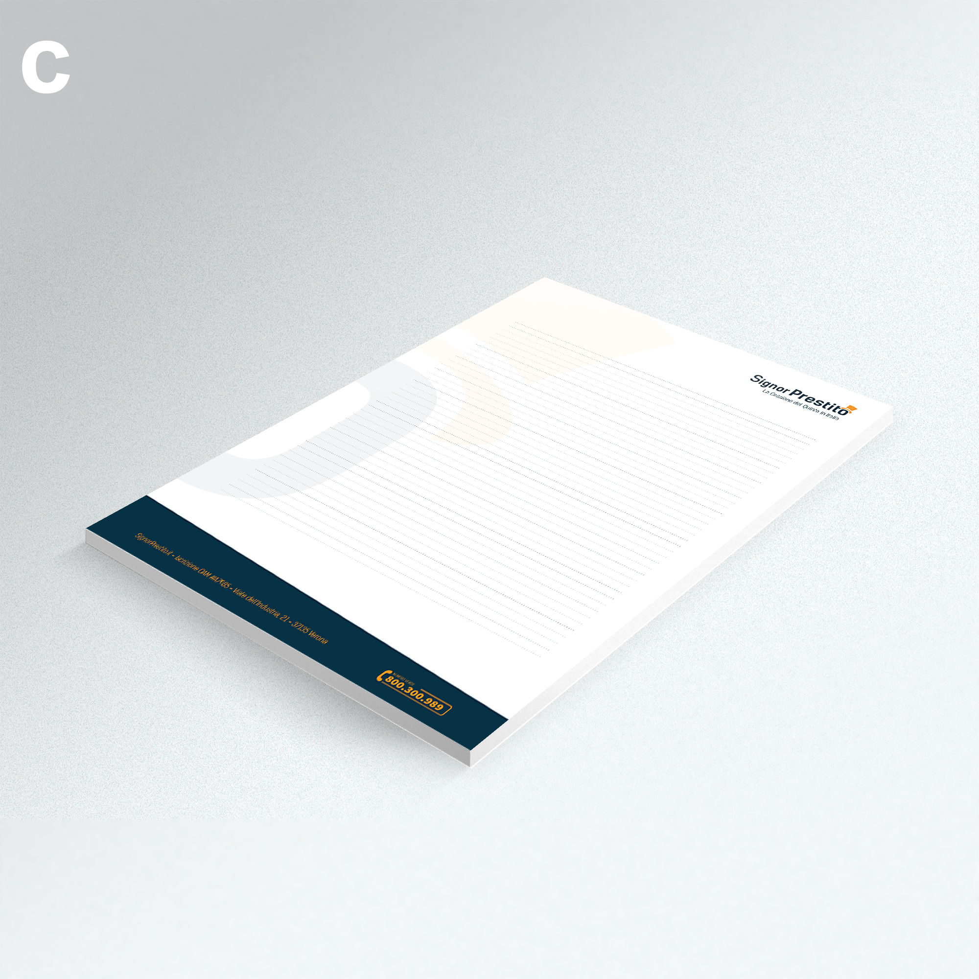 business card design signor prestito